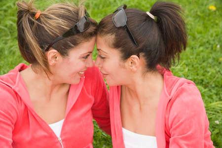 Middle Eastern women face to face Banco de Imagens