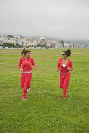 middle eastern families: Middle Eastern women jogging