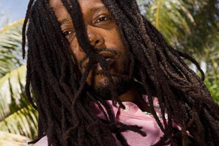 African man with dreadlocks Stock Photo