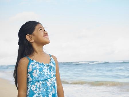 pacific islander: Pacific Islander girl at beach