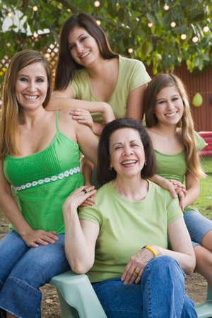Portrait of multi-generational Hispanic female family members