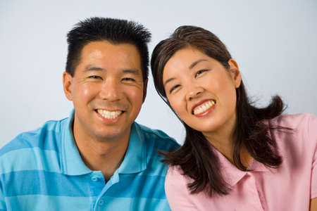 maquillage: Portrait of Asian couple
