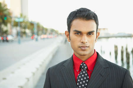 spectating: Portrait of Indian businessman