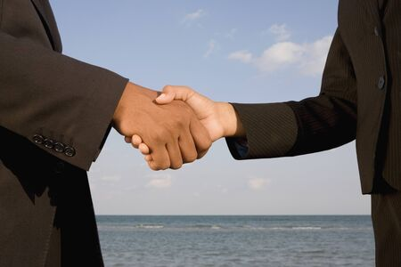 shaking out: African businesspeople shaking hands