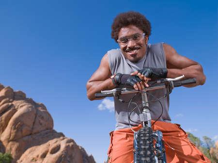 adventuresome: African man on mountain bike