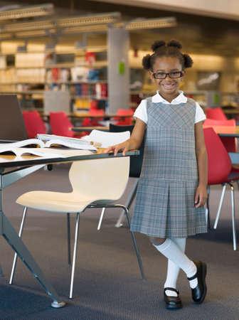 pupils: African girl in school uniform