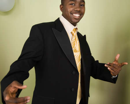 milepost: African man wearing suit