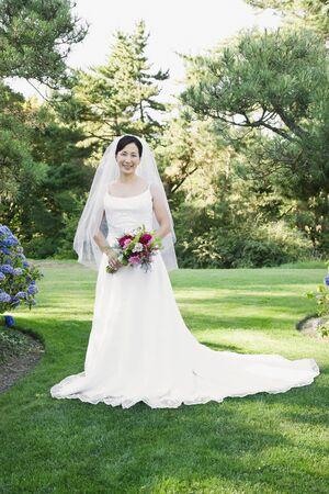 talker: Portrait of Asian bride LANG_EVOIMAGES