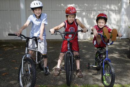 自転車でアジアの兄弟