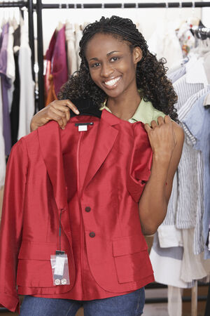 African woman clothing shopping