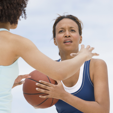 sweatsuit: African women playing basketball