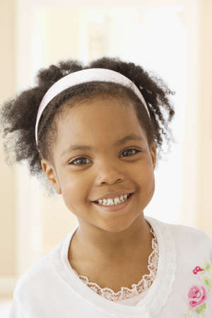 casualness: African girl smiling