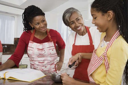 grandmas: African family baking together