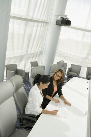 Multi-ethnic businesswomen in meeting