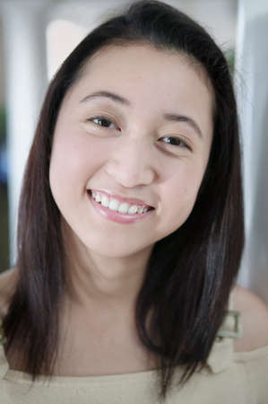 standpoint: Portrait of a young woman smiling