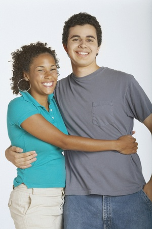 Young couple smiling for the camera Stock Photo