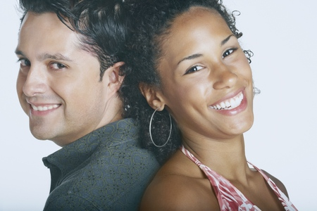 Couple smiling for the camera
