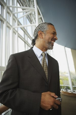 Middle-aged African businessman smiling, North Bethesda, Maryland, United States