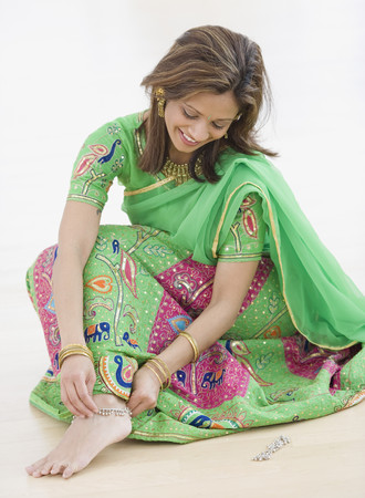 Indian woman wearing traditional dress