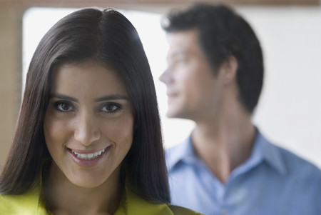 Confident Hispanic woman smiling
