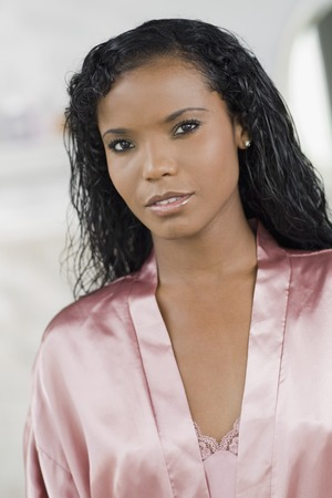 Panamanian woman in silk robe
