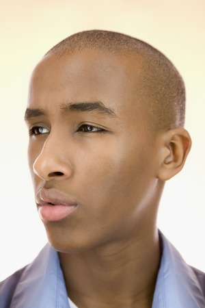 Close up of serious African man Stock Photo