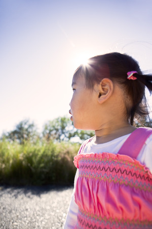 Curious Chinese girl