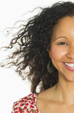 Smiling Hispanic woman Imagens