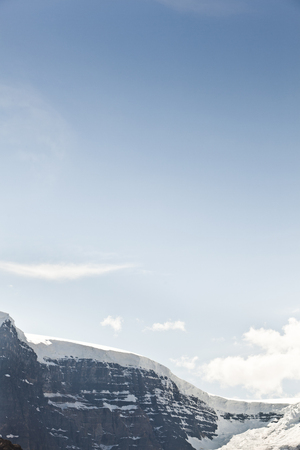 Blue sky over Snow Dome Stock Photo