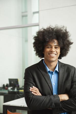 Smiling Black businessman Stock fotó