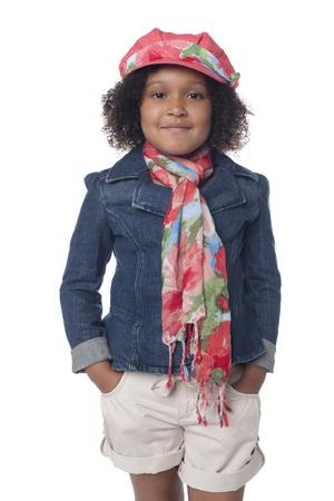 Fashionable mixed race girl