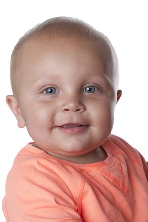Smiling Caucasian baby boy