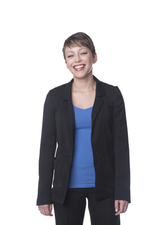 Smiling Hispanic businesswoman Banco de Imagens