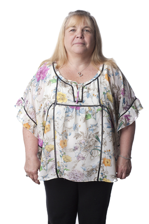 Overweight Caucasian woman