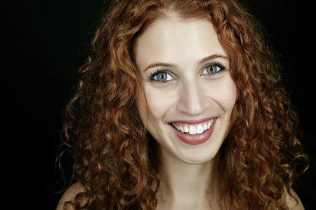Caucasian woman smiling Stock Photo