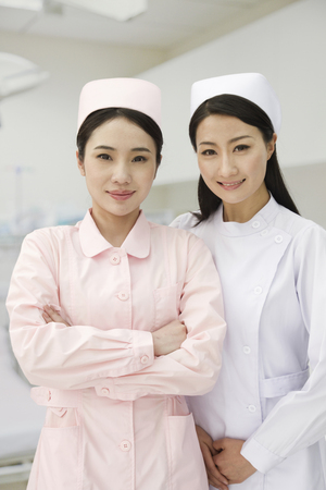 Chinese nurses in uniform