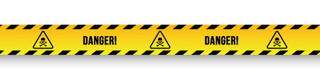 Caution danger sign. Ilustrace