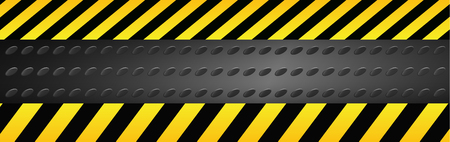 Caution danger sign. Illustration