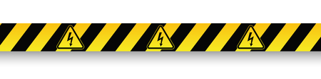 Caution danger sign. Illustration