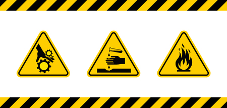 Caution danger sign illustration.