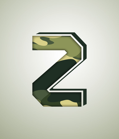 CAMO Character Set, detailed vector font Illustration