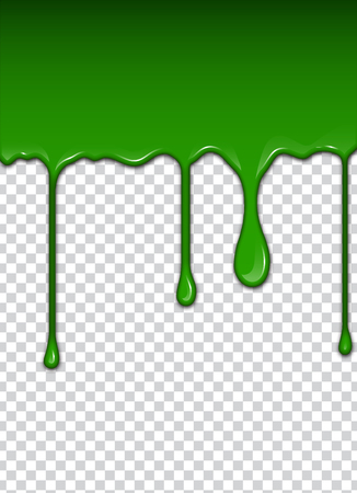 Green liquid, splashes and smudges. Slime vector illustration. Stock Illustratie