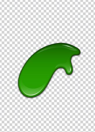Green liquid, splashes and smudges. Slime vector illustration. Illustration