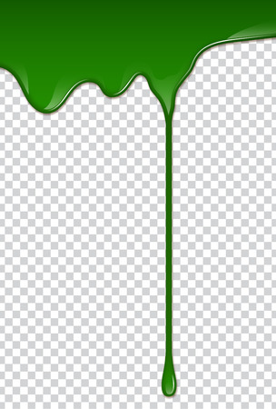 Green liquid, splashes and smudges. Slime vector illustration.  イラスト・ベクター素材