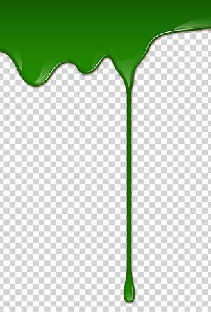 Green liquid, splashes and smudges. Slime vector illustration. Ilustração