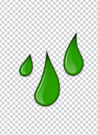 Green liquid, splashes and smudges. Slime vector illustration. Illustration
