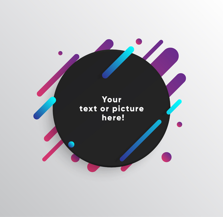 Colorful lines template for presentation. 일러스트