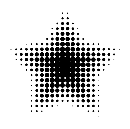 Vector halftone for backgrounds and designs Illustration