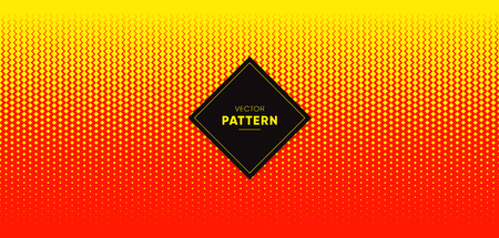 Red and yellow vector halftone for background and designs. Illustration