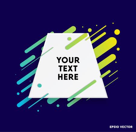 Modern text box with colorful stripes and dark blue background. Ideal for motivational quotations. Vector illustration. Vektoros illusztráció